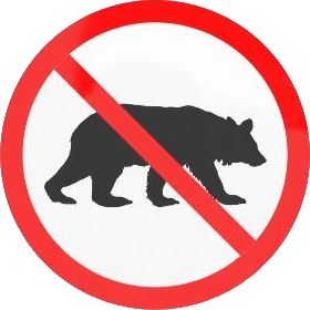 Bears prohibited sign